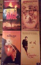 Nature's Rage Indiana Jones Karate Kid Somewhere in Time VHS Lot Reader's Digest