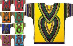 Dashiki Blouse African Men Hippie Traditional Vintage Boohoo Tribal Dress Shirt
