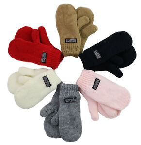 Children Fleece lined Mittens Unisex Winter Mitten For Toddlers and kids