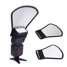 Camera Flash Diffuser Softbox Silver White Reflector for Canon Sony Speedlite