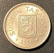 UNC 1956 Finland 100 Markkaa, Great Silver Coin! Nice!