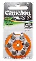 6er Pack Camelion Knopfzelle (Batterie) A13 | PR48 | A13-BP6 | für Hörgeräte | 1