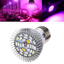 8W E27 LED Grow Light Kit Full Spectrum Hydroponic Plants Veg Flower Lamp New