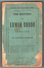 Rare 1874 THE MYSTERY OF EDWIN DROOD Complete CHARLES DICKENS Brattleboro JAMES