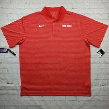 Vintage OHIO STATE BUCKEYES Nike Coaches POLO Golf Shirt Mens 2XL XXL Red NEW