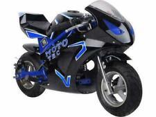 MotoTec 36V Electric Pocket Bike GT Ride On Toy -  Blue