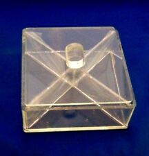 ACRYLIC CANDY BOX * 4 SECTION * HIGH QUALITY * EMSON INC. * 1977 * NEW IN BOX