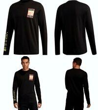 Adidas Originals Graphic Tee Long Sleeve 100% Cotton Black Men Size Small Fr0586