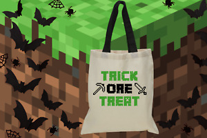 Halloween Minecraft Trick-or-Treat Bags - Minecraft Halloween Tote Bags