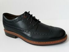 NEW CLARKS MELSHIRE WING NAVY LEATHER BROGUE STYLE SIZE 42 UK 8G