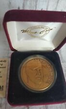 1998 Mark McGwire Single-Season HR Record (70) Highland Mint Bronze Medal W/COA
