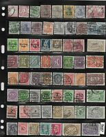 #5687   Early & Inflation era stamps  63 all different / Pre Third Reich Germany