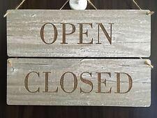 Türschild Deko schild Landhaus Vintage Shabby SET Open + Closed  Dekoschild