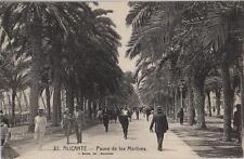 Tarjeta Postal. Alicante. Nº 32. Paseo de los Mártires.