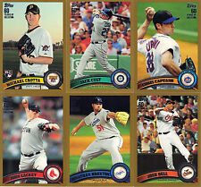 """2011  TOPPS """"GOLD""""   SERIES #2  """"PICK YOUR OWN""""   10 CARD LOT"""