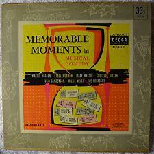 "Memorable Moments in Musical Comedy 1951 10"" LP VG++ Novelty Songs Ethel Merman"