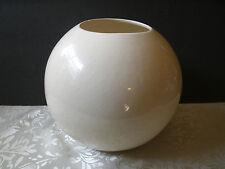 "Ceramic Bubble Vase Clear Glaze on Natural Clay Contemporary Decor 8"" sphere"
