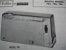 BULOVA 782, 785, 786 TRANSISTOR RADIO PHOTOFACT