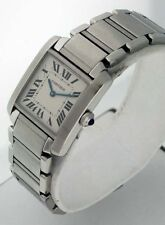 Cartier Tank Francaise Mid-Size Stainless Steel Unisex watch.