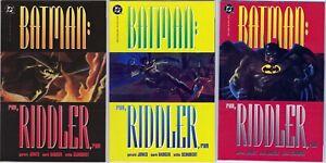 DC - Batman: Run Riddler Run Prestige Format Mini Series 1-3 1992 Jones, Badger