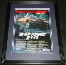 1985 Nissan 4x4 Standard 11x14 Framed ORIGINAL Vintage Advertisement