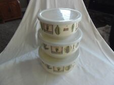 PFALTZGRAFF NATUREWOOD SET OF ENAMEL BOWLS WITH LIDS