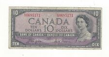 *1954 Devil's Face*Bank of Canada BC-32a, $10 Coy/Tow SN, E/D 0685171
