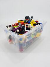 2 kg LEGO Kiloware, Platten, Räder, Teile, Steine + 4 Figuren gereinigt
