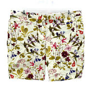Lands' End Womens Size 18 Mid-Rise Botanical Floral Print Bermuda Shorts
