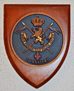 Belgian 2nd Lancers regimental mess wall plaque 2ème Lanciers 2e Lansiers