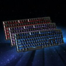 Russian USB Wired Gaming Keyboard With 3 Colors Backlit Keycaps Mechanical Feel
