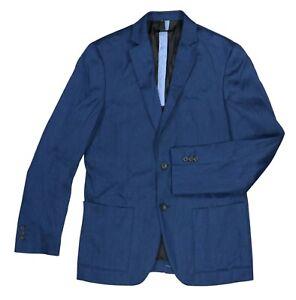 Alfani Linen Blend Solid Color Men's Sport Coat Blazer Small NWT Navy