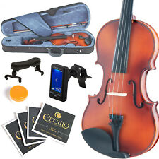 MENDINI SIZE 1/8 VIOLIN SOLIDWOOD SATIN ANTIQUE +TUNER+SHOULDERREST 1/8MV300