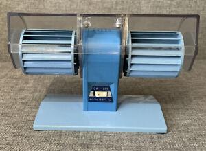 Braun Like Table Desk Fan Vintage MCM Space Age Teal Blue Nail Dryer?