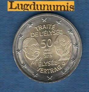2 euro Commémo Allemagne 2013 Traité de L'Elysée J Hambourg Germany