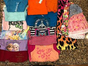 15 Piece Girls Summer Clothes Lot Size 7/8 Osh Kosh Disney Hello Kitty Knit work