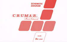 Crumar BIT ONE Schematic Diagram Service Manual Repair schaltplan techniques