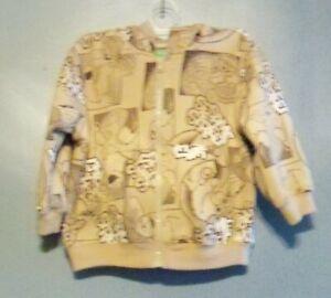 Sesame Street, brown hooded jacket, age 24 months