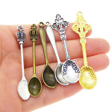 12pcs/lot Jewelry Accessories Retro Spoon Assorted Mixed Alloy Charms Pendants