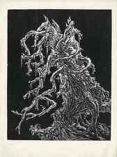Vecchio ABETE METEO-Bruno ORO Schmidt-ORIGINALE legno taglio 1927 Heyder casa editrice