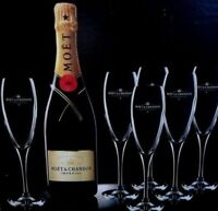 MOET CHANDON CHAMPAGNE IMPERIAL FLUTES X 6 BNIB CHEAPEST ON EBAY