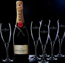 MOET CHANDON CHAMPAGNE IMPERIAL FLUTES X 12  BNIB CHEAPEST ON EBAY