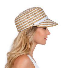 Eric Javits Luxury Fashion Designer Women's Headwear Hat - Dame Cap - White Mix