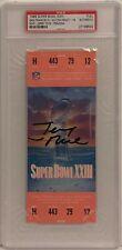 Jerry Rice Signed Super Bowl XXIII Authentic FULL Ticket Stub *SB XXIII MVP PSA