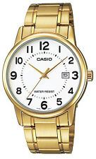 Casio MTP-V002G-7B Men's Standard Analog Gold Tone Stainless Steel Date Watch