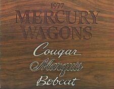 1977 Mercury Cougar Marquis Bobcat Station Wagons  Dealer Sales Brochure