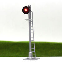 JTD433R 2PCS  Model Railroad Train Signals 1-Light Block Signal Red O Scale 12V