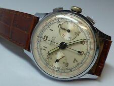 Semca Chronograph Military 17 Jewel Watch Timepiece Landeron 48 Movement Vintage