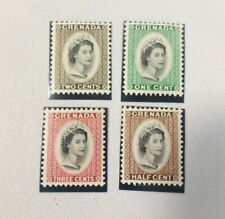 Grenada 1953 Queen Elizabeth II Coronation Stamps Set of 4