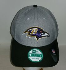 Baltimore Ravens Gray and Black Adjustable New Era  NFL Hat New